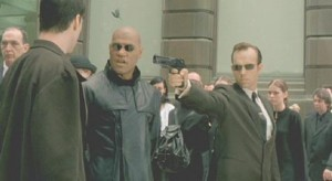 Agent Smith Pointing Gun